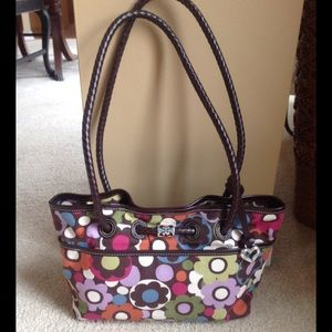 Brighton handbag with floral design leather straps